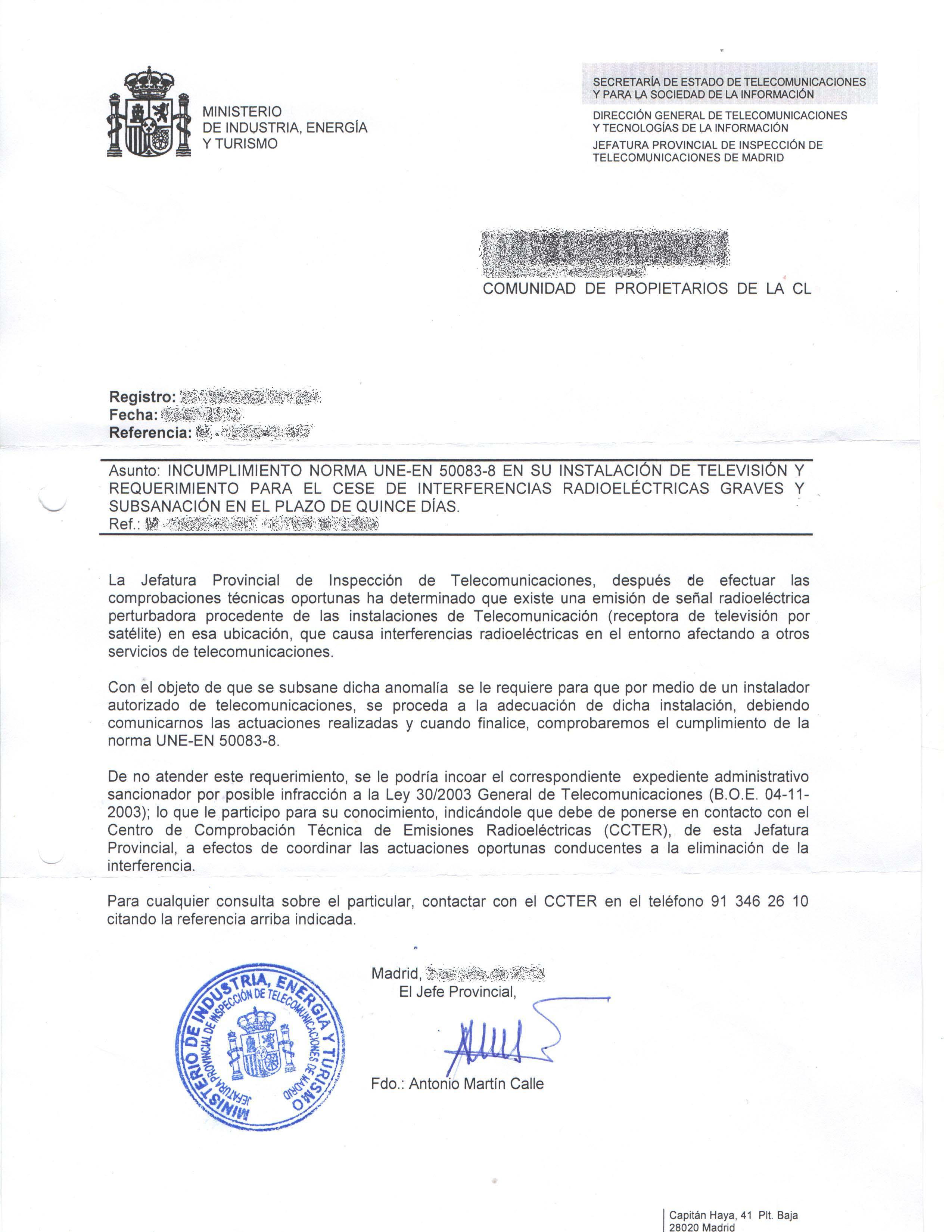 Carta de jefatura provincial de inspecci n de for Ministerio del interior pagina oficial