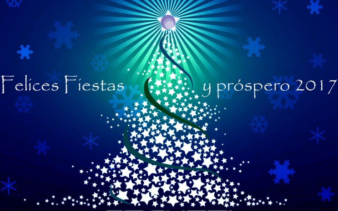 Felices fiestas y próspero 2017