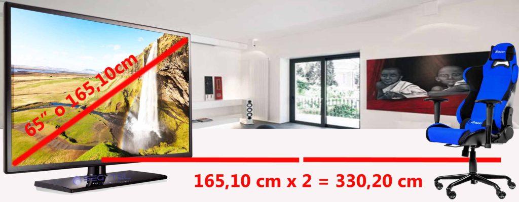 El tamaño del televisor irá acorde a la sala en la que estará ubicado